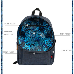 Image 2 - Pink Printing Canvas Women School Backpack Female Schoolbag Backpack School Bags For Teenage Girls Mochilas Mujer 2018