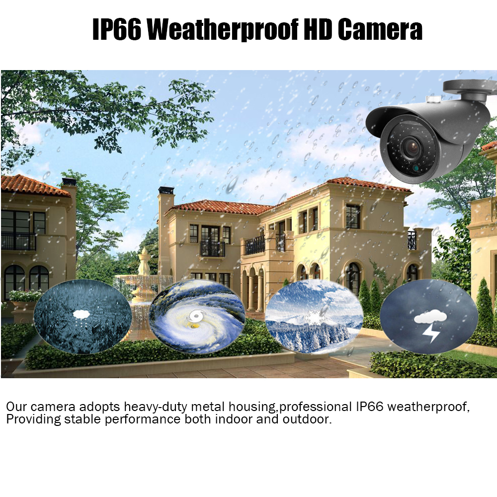 Image 4 - New Super Full HD 8CH AHD 2MP Home Outdoor CCTV Camera System 8 Channel video Surveillance security camera kit 8ch 1080P AHD DVR-in Surveillance System from Security & Protection