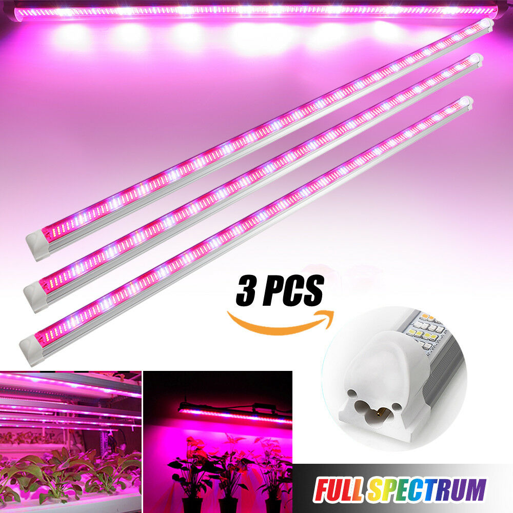 3pcs/lot LED Grow Light T8 <font><b>Tube</b></font> Bar 60cm 90cm 120cm Indoor Hydroponic Led Phytolamp for Plants Seedlings Greenhouse Grow Tent image