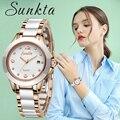 Женские модные часы Роскошные брендовые кварцевые часы женские керамические часы из нержавеющей стали женские часы Relogio Feminino часы + коробка