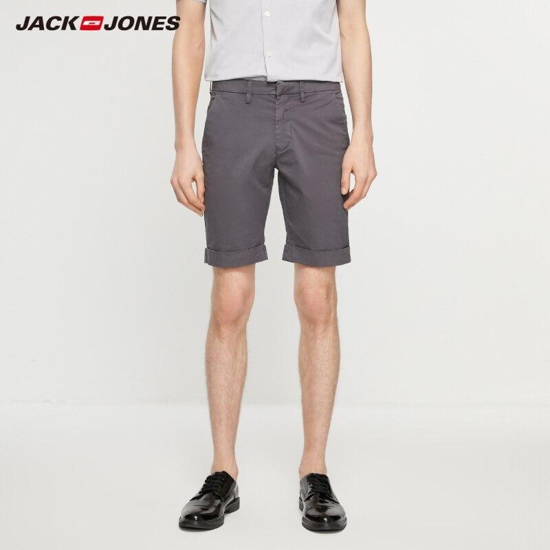 JackJones Men's Fashion Comfortable Multi-colored Basic Pure Color Knee-high Shorts| 219215511