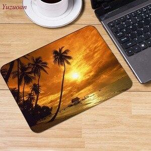 Image 4 - Yuzuoan plaj deniz palmiye manzara büyük promosyon rusya bilgisayar oyunu fare pedi Mousepads masanızda süslemek için kaymaz lastik pedi