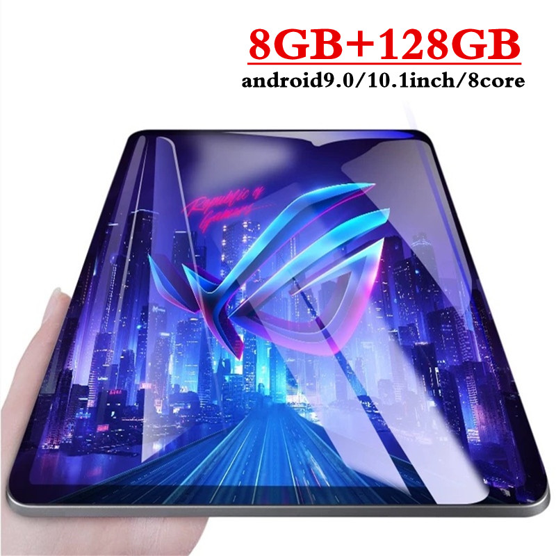 10.1 Inch 3G 4GLTE Phone Call Tablets Octa Core Tablet Pc Android 9.0 Tablet 8G Ram+128G Rom IPS 2.5D Screen Pc Tablet WiFi GPG