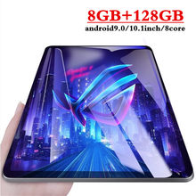 10.1 polegada 3g 4 glte chamada de telefone comprimidos octa núcleo tablet pc android 9.0 tablet 8g ram + 128g rom ips 2.5d tela pc tablet wi-fi gpg(China)