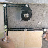 Construction Multi Angle Measuring Ruler Aluminum Folding Positioning Ruler Professional DIY Wood Tile Flooring Tool