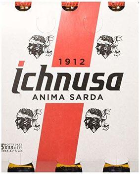 Ichnusa Set 8 Birra Flasche 33x3 Glas Alkohol Tischkolie Mehrfarbig