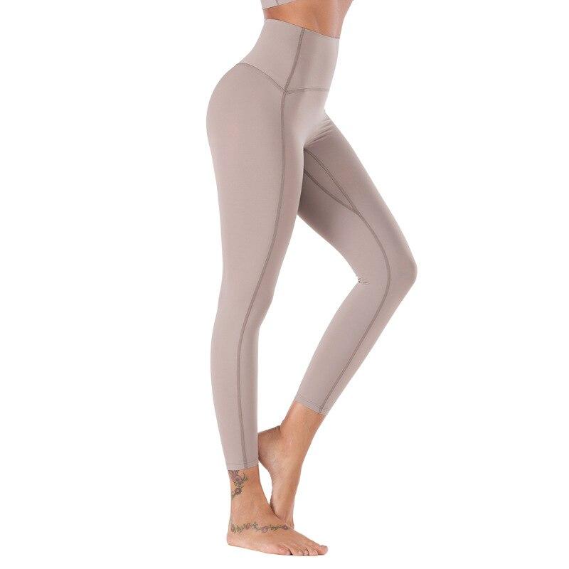 2021 Women Quality Yoga Pants Sports Leggings High Waist No Front Seam Soft Leggin Gym Fitness Sports Pants Workout Leggings|Yoga Pants| - AliExpress