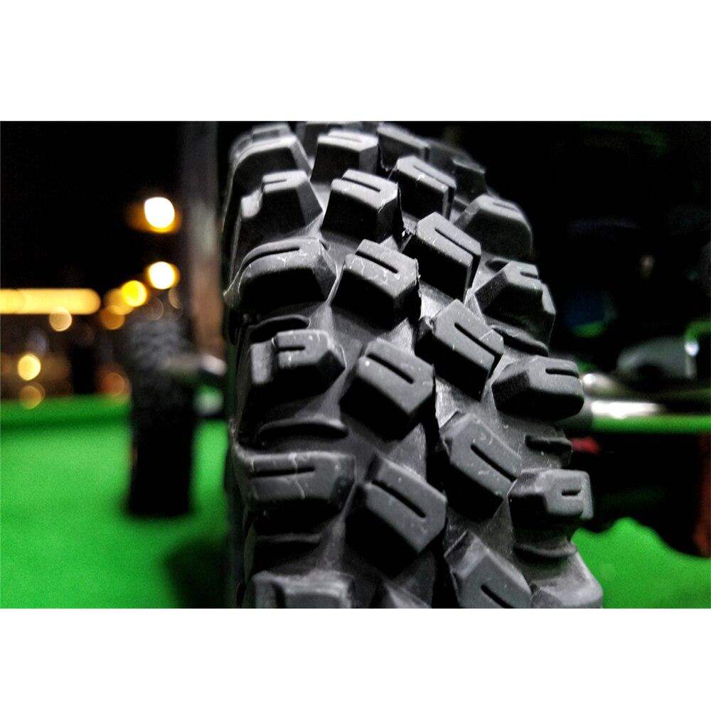 """4 pièces 120MM 1.9 """"RC voiture caoutchouc roue pneus BOOM RACING 106/113MM pneus pour 110 RC chenille axiale SCX10 Traxxas TRX-4 RC4wd D110"""
