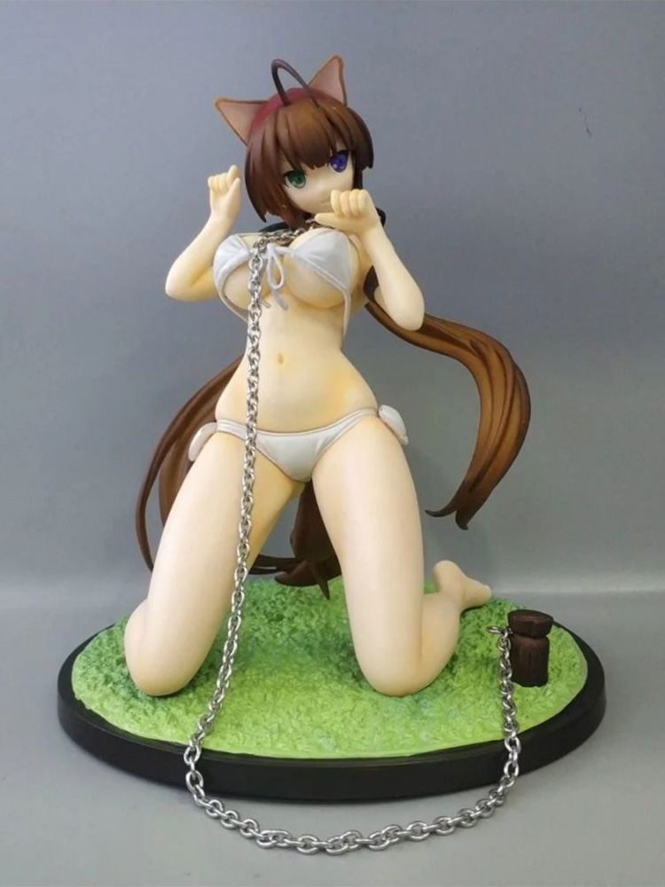 Anime Sexy Girl <font><b>Senran</b></font> <font><b>Kagura</b></font> Burst Ryou PVC Action Figure Anime Figure Model Toys 18CM Sexy Figure Collectible Doll Gift image