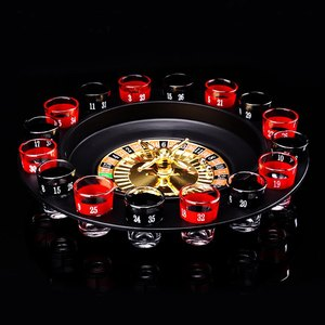 Image 2 - ABKT Novelty  Drink Turntable Toys Russian Roulette Wheel 16 Wine Cups Bar KTV Night Party Entertainment
