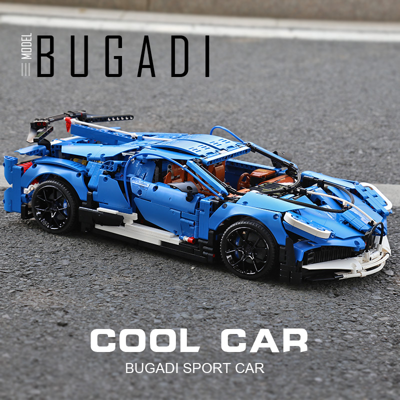 MOULD KING 13125 The RC APP Motorized Blue Racing Car Set