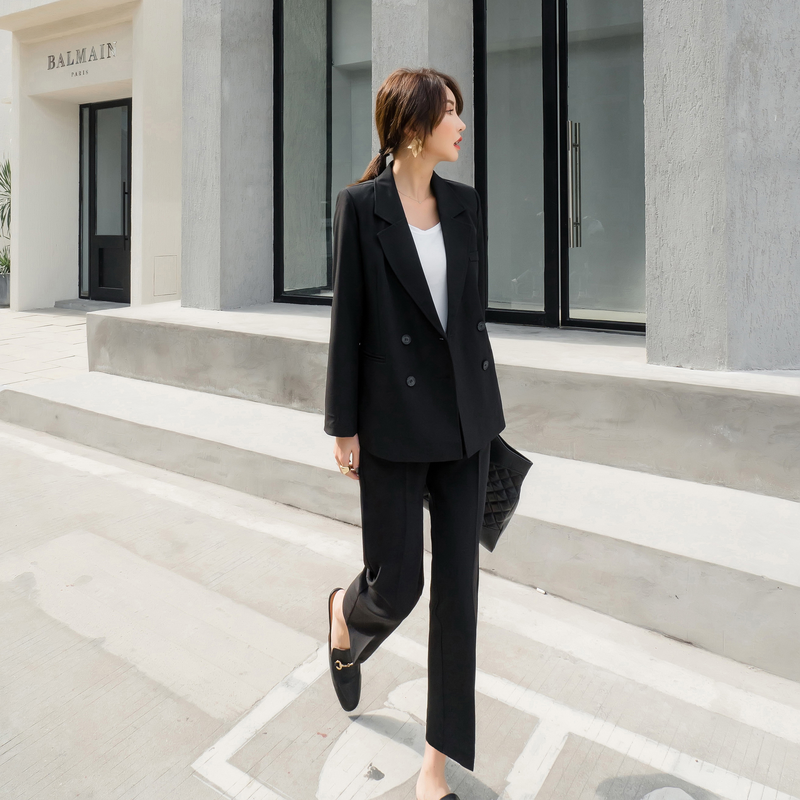 Spring Autumn New Casual Loose Suit Retro Women Fashion Suit two-piece