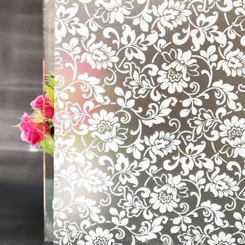 45 #215 100 Cm białe kwiaty dekoracyjne folie okienne dekoracyjne samoprzylepne folia klejąca statyczne przylgnięcie naklejki na okna nieprzezroczyste czarne tanie i dobre opinie WXSHSH Statyczne czepiać Przeciwwybuchowe Izolacja cieplna anti-UV 45 by 100 cm Matowe trawione Tłoczone Stained Szkło filmy