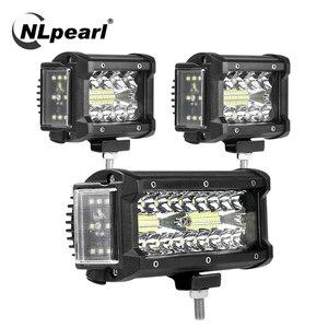Image 1 - NLpearl Light Bar/światło robocze 4/7 cala 108W 168W LED światło robocze Bar Side Luminous listwa świetlna Led dla Jeep Truck Offroad ATV 12V 24V