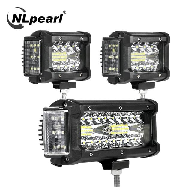 NLpearl Light Bar/światło robocze 4/7 cala 108W 168W LED światło robocze Bar Side Luminous listwa świetlna Led dla Jeep Truck Offroad ATV 12V 24V
