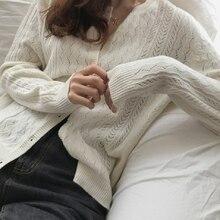Женский винтажный Кардиган с длинным рукавом элегантный вязаный