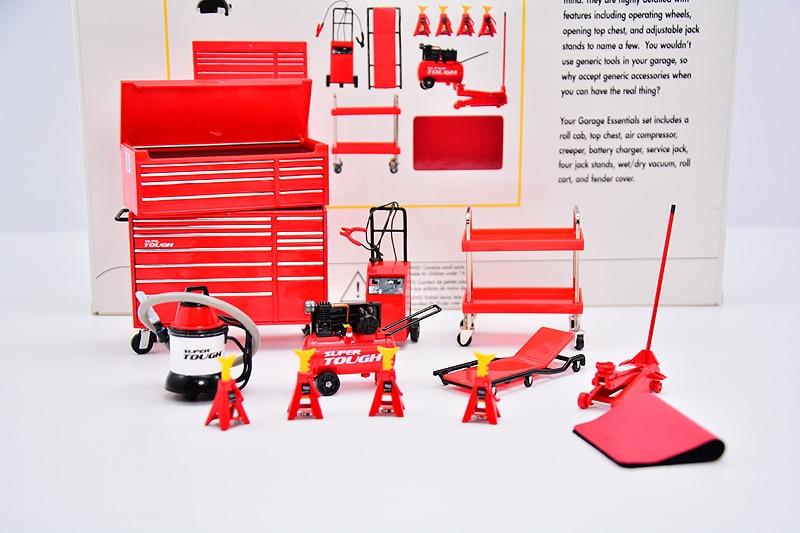 1:18 High Simulation Alloy Car Model Garage Underground Parking Lot Model Scene Maintenance Field Tool Decoration Decoration Set
