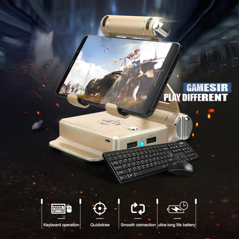 TWISTER.CK X1 BattleDock Bluetooth Gamepad Wired Keyboard-Mouse-Converter FPS Mobile Game Tool Hassle-free Experience For PUBG