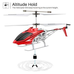 Image 2 - SYMA Official S39 3CH RC Helicopter with Hover Altitude Hold Function Aluminum 2 Batteries Anti Shock Remote Control Toy Gift