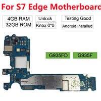 BINYEAE remplacement pour Samsung Galaxy S7 Edge G935F G935FD débloqué carte mère principale 32GB déverrouiller Version Europe