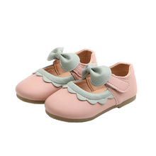 1 2 3 4 5 6 7T 2020New Baby Girls Leather Shoes Kids Princess Shoes For Cocktail Party Little Girl Single Shoes Pink Black Beige