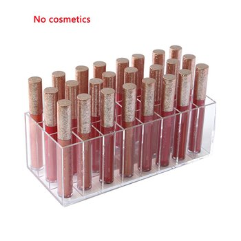 24 Grids Makeup Organizer Acrylic Lipstick Storage Box Cosmetic Display Stand Lipstick Display Holder Jewelry Display Case 24 grids lipstick holder makeup lipstick display stand storage rack makeup organizer acrylic storage box