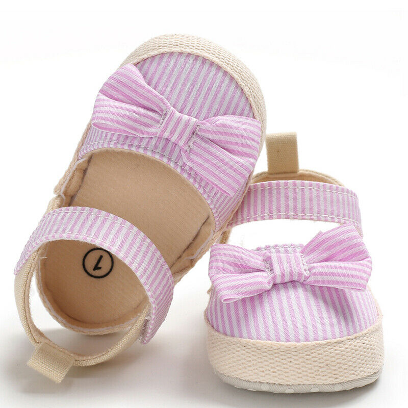 Toddler Newborn Baby Girl Soft Sole Crib Shoes Anti-slip Prewalker Sneakers