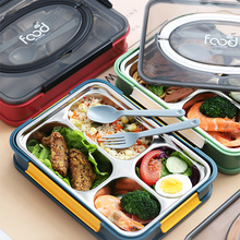 Portable Lunch Box Japanese Bento Box 2020 Compartment Kitchen Sealed Food Container Gift Tableware 304 Stainless Steel new japanese kids lunch box 304 stainless steel bento lunch box with compartment tableware microwave food container box 2020