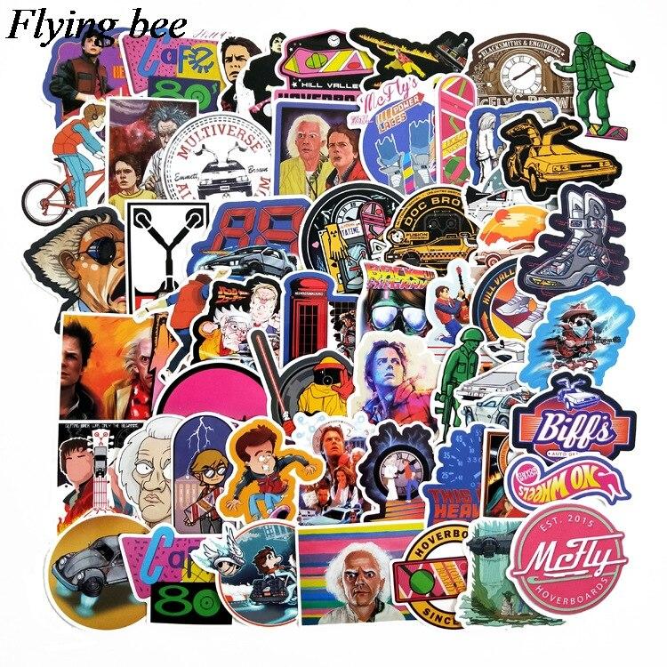 טלוויזיות 25 29 Flyingbee 57 יח חוזר מדבקות בעתיד מדבקות Waterproof עבור חדר שנת מדבקות מדבקות מחשב נייד רכב החפץ קישוט X0701 (2)
