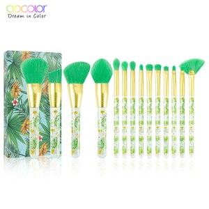 Image 1 - Docolor 14 pçs pincéis de maquiagem conjunto profissional pó fundação sombra compõem escovas cosméticos macio cabelo sintético