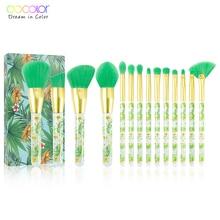 Docolor 14Pcs Makeup Brushes Set Professional Powder Foundation Eyeshadow Make Up Brushes Cosmetics Soft Synthetic Hair