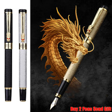 Classic Design Brand Hero Dragon Crystal Ink Fountain Pen Office Business Men Signature Pen Buy 2 Pens Send Gift