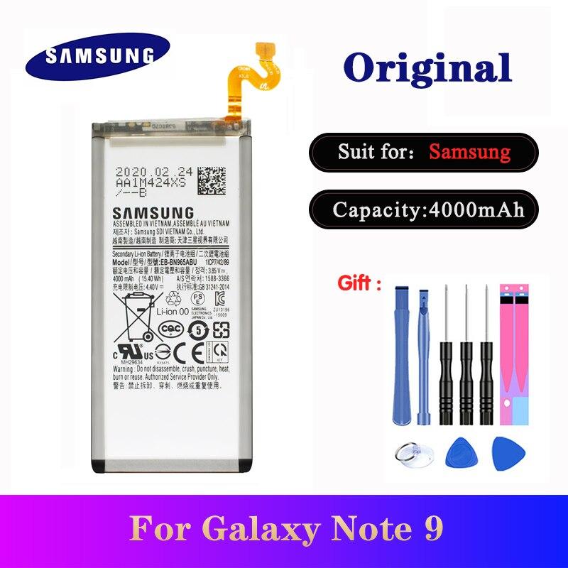 Оригинальный аккумулятор для Samsung Galaxy Note 9 SM N960F N9600 N960U N960N N960W Замена EB BN965ABU телефона Bateria AKKU 4000 мАч Аккумуляторы для мобильных телефонов      АлиЭкспресс