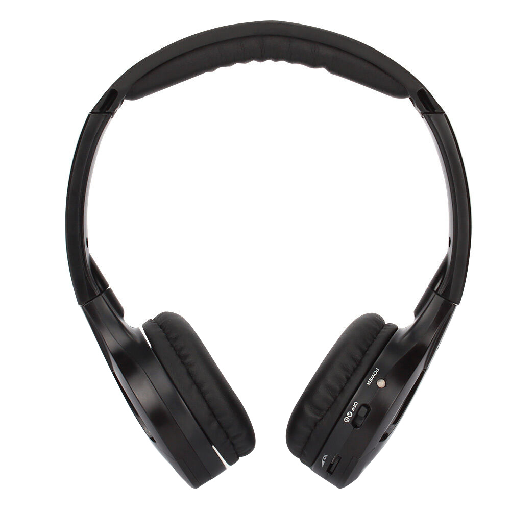 Stereo Infrared With Microphone Adjustable Dual Channel Car Wireless Headphone Foldable Voice Control Portable Noise Reduction