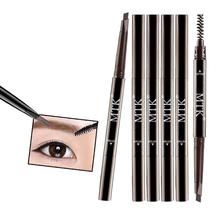 Novel Double-headed Automatic Eyebrow Pencil Powder Lasting Waterproof Anti-sweat Not Blooming Purple Tube Brush 1 Pcs