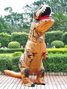 Надувной костюм тирекса динозавра, праздничные костюмы для косплея, маскарадный аниме костюм на хэллоуин для взрослых, детей, мультяшный ди...