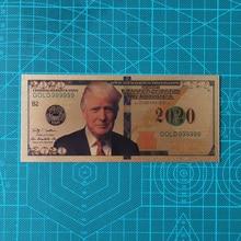 10pcs Donald Trump US Dollar Gold Banknote Set 24k Gold Plated 2020 USD Banknotes Gold Foil Bill недорого