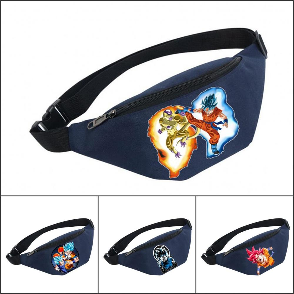 Unisex Fanny Pack Women Belt Waterproof Chest Handbag Waist Bag Ladies Waist Pack Belly Bags For Japan Anime Dragon Ball Z