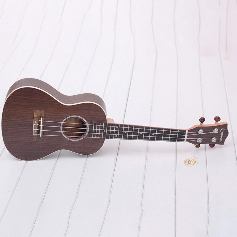 Longteam 23 pouces guitare ukulélé palissandre mat ukulélé hawaïen Mini guitare - 4