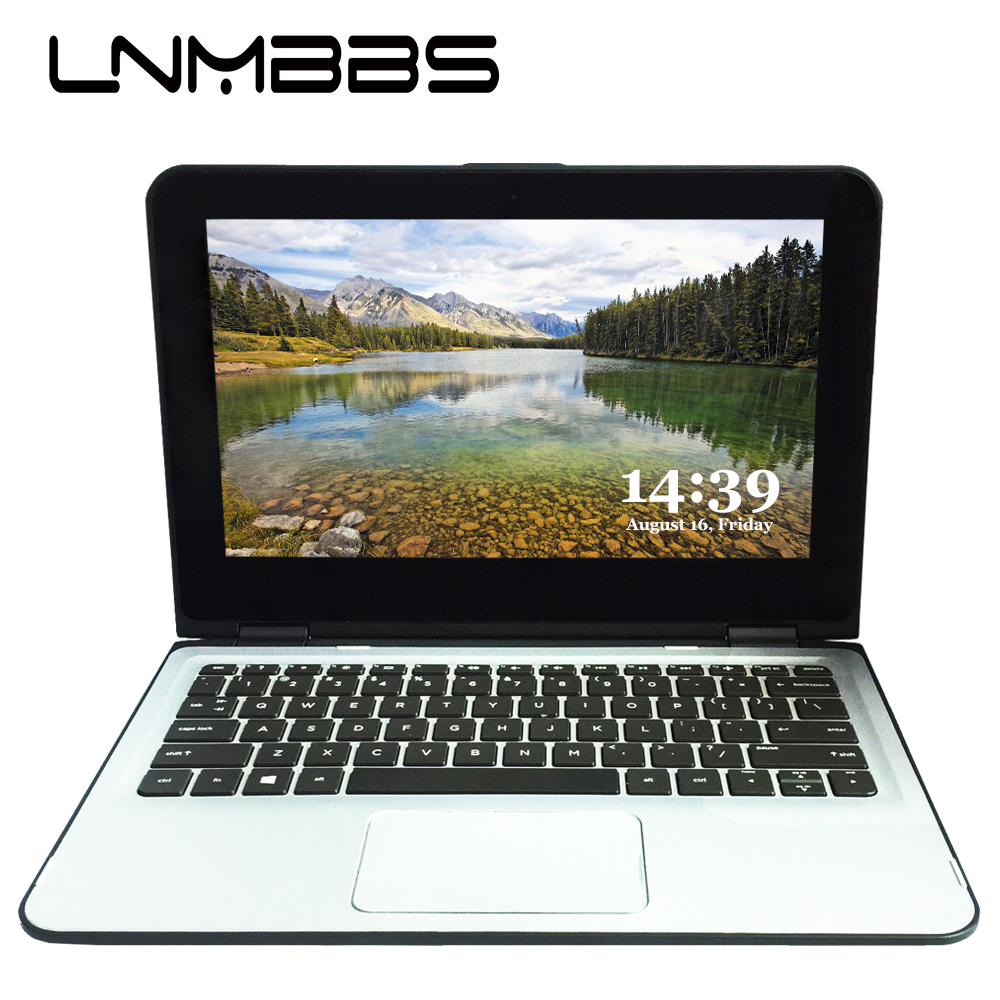LNMBBS X36 touch screen Laptop 11.6inch notebook 4GB RAM 120GB SSD window 10 1366*768 Quad Core Wifi HDMI camera office computer image
