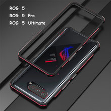 Bumper Case For ZS673KS ASUS ROG Phone 5 Pro Ultimate Aluminum metal Frame Slim Cover phone case + carmera Protector Accessories