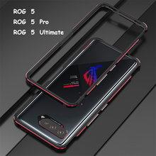 Coque pare-chocs pour ASUS ROG Phone 5 Pro ZS673KS, cadre métallique en aluminium fin + protection carmera, accessoires