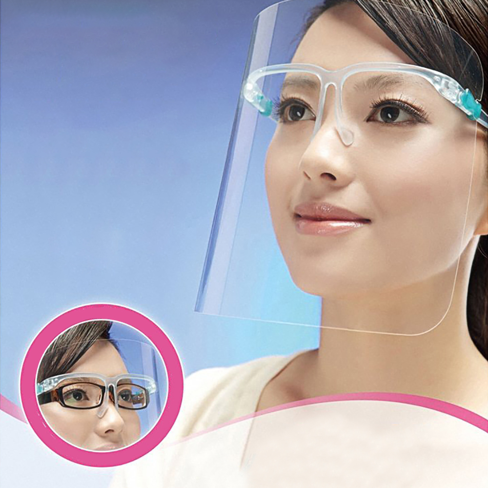Transparent Anti-Oil Splatter Anti-fog Full Face Shield Mask Visor Shield Cooking Protector Breathing Safety Face Masks