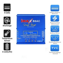 RC Charger 6A 80W Imax B6Ac Dual Channel Ac Li-Ion Nimh Nicd Lipo Battery Charger with Balance Lcd Sn US Plug(China)