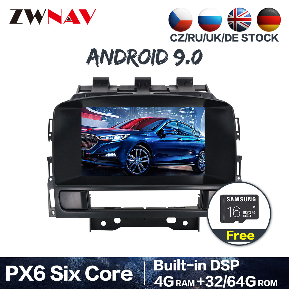 PX6 Android 9.0 4+64G With DSP IPS RDS Car GPS Navigation Radio DVD Player For Opel Astra J 2010-2013 CD300 CD400 Free map 2 DIN image
