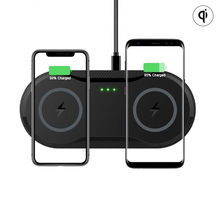 20W Double Qi Wireless Charger Pad untuk iPhone 11 X X 8Plus 10W Dual Cepat Pengisian Dock station untuk Samsung Mobileph(China)