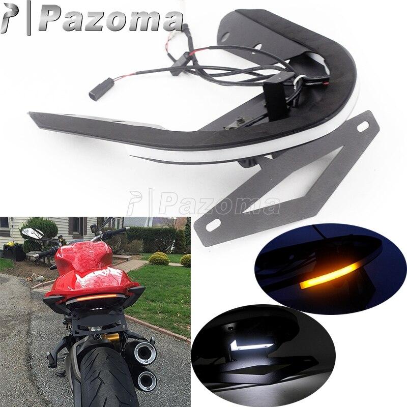 Мотоцикл крыло Eliminator номерной знак кронштейн светодиодный задние фонари с сигналом поворота для Ducati Monster 1200/S 14 16 Monster 821 15 17