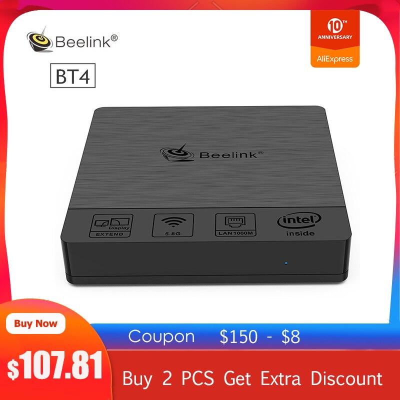 Beelink BT4 Desktop Mini PC Intel Atom X5-Z8500 Intel HD Graphics 600 4GB RAM 64GB EMMC 2.4G/5.8G WiFi 1000Mbps USB3.0 BT4.0 4K