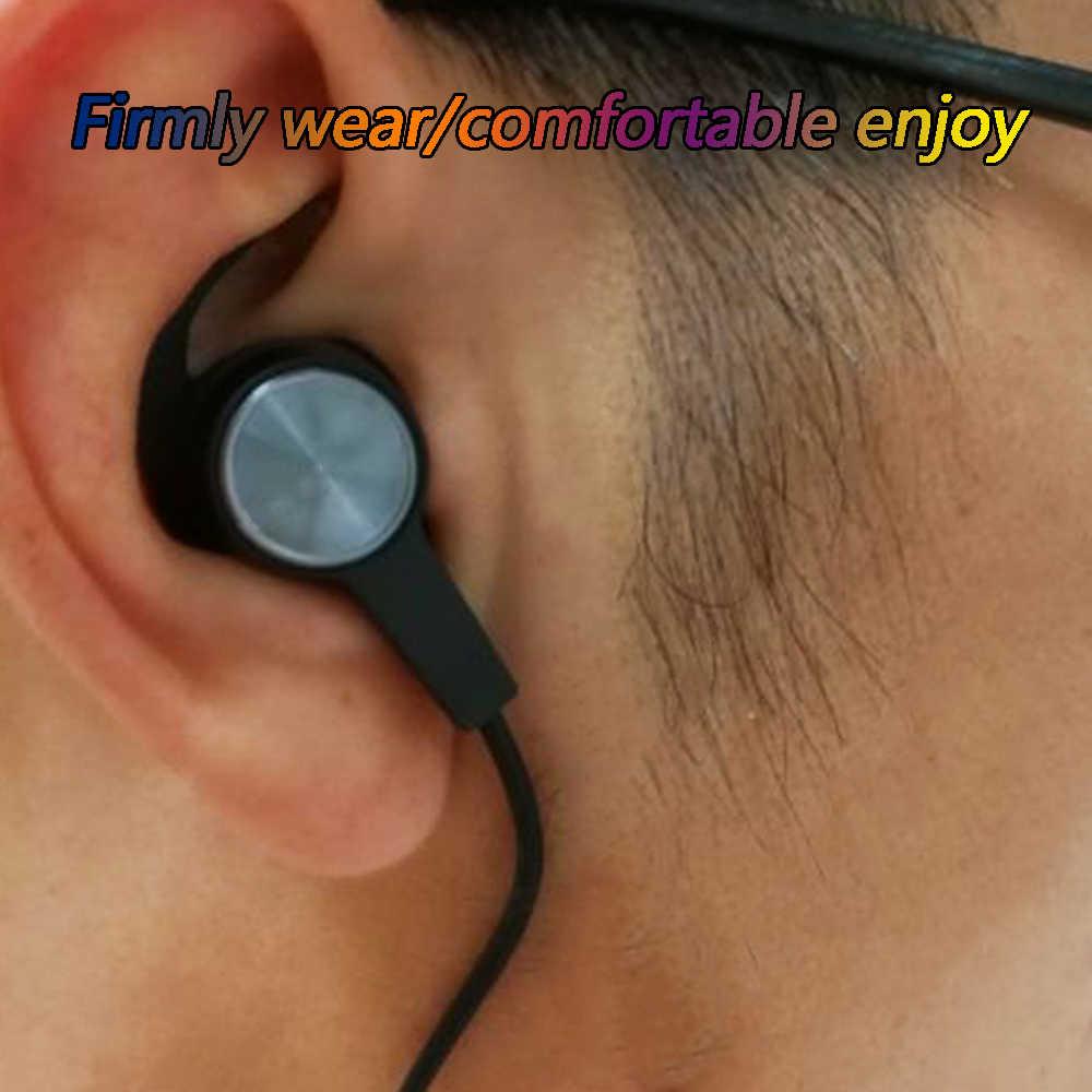 3 Pairs czarne silikonowe wkładki douszne pokrywa Eartips zaczep na ucho dla Huawei Honor xSport AM61 zestaw słuchawkowy Bluetooth akcesoria do słuchawek