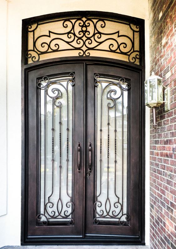 Shanghai Hench Brand China Factory 100% Custom Made Sale Australia Wrought Iron Interior Doors